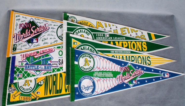 1988-1989 Oakland Athletics World Series & Playoff Pennants