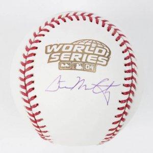 2004 Boston Red Sox - David McCarty Signed WS Baseball