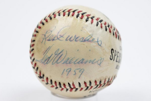 """Boston Red Sox - Ted Williams Signed Autographed Inscribed """"Best Wishes - 1959"""" Official Special League Baseball"""