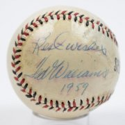 Red Sox- Ted Williams Signed & Inscribed Official Special League Baseball - JSA
