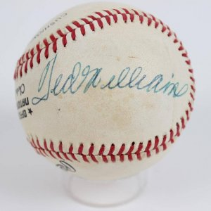 NY Giants- Bill Terry  & Red Sox- Ted Williams Signed Baseball- JSA