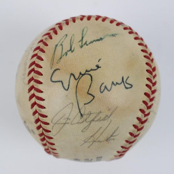 1980s Multi-Signed HOFer Baseball 12 Sigs. Williams,Dandridge,Hunter etc.- JSA