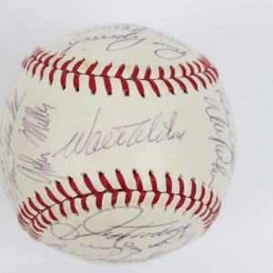 1969 Los Angeles Dodgers Team Signed ONL ( Gilies ) Baseball Walter Alston, Drysdale,Sizemore (ROY)