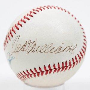 Top Hitters - Cincinnati Reds Pete Rose & Boston Red Sox Ted Williams Signed Baseball