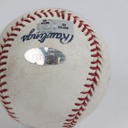 10/12/07 - Josh Beckett Game-Used, Signed & Inscribed Baseball - Steiner & MLB