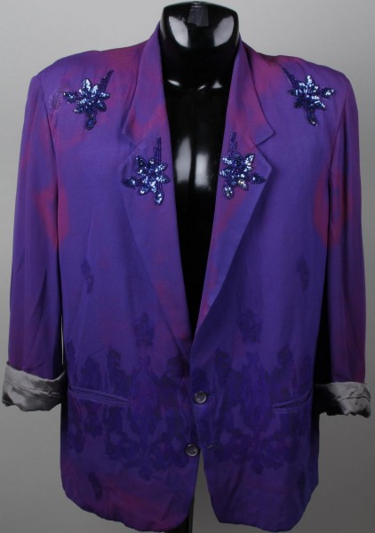 Entertainer Worn Purple Flower Suit Jacket (Possibly B-52s)