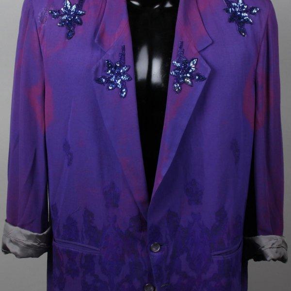 Entertainer Worn Purple Flower Suit Jacket (Possibly B-52s)