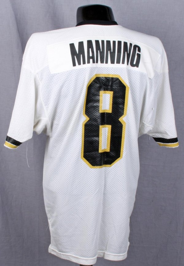 1980-81 New Orleans Saints Archie Manning Game-Worn White Mesh Jersey