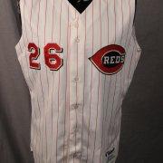 Cincinnati Reds - Brook Jacoby Game-Worn Vest Jersey (Property of Cincinnati Reds Tagging)