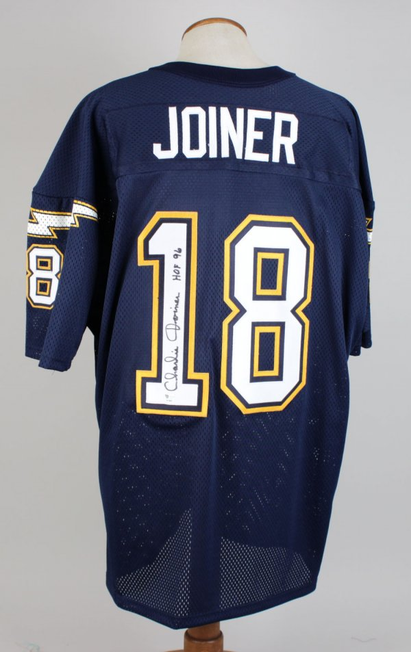 Charlie Joiner Chargers Signed & Inscribed (HOF 96 ) Home Jersey
