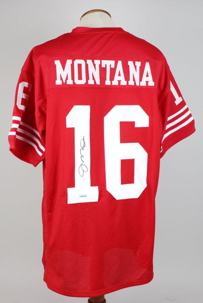 San Francisco 49ers - Joe Montana Signed Red  Jersey - Tri Star