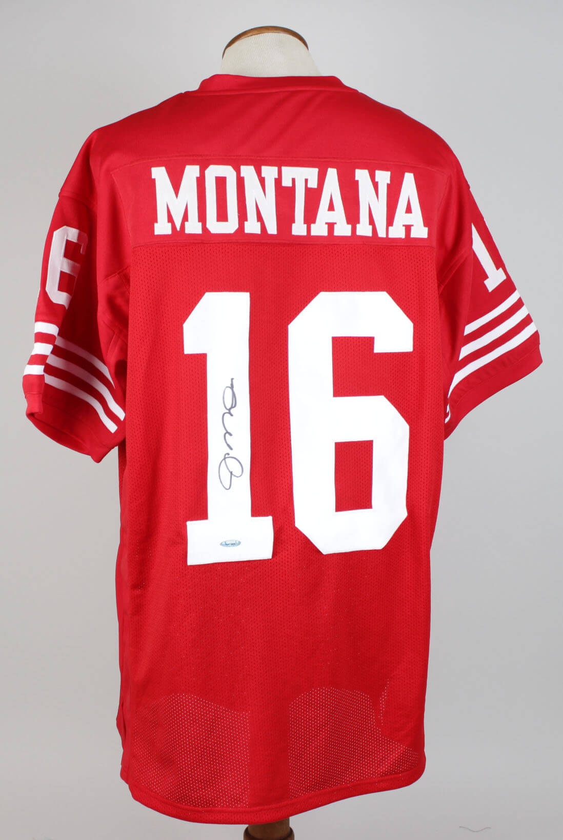 quality design 9c4ea 8350a San Francisco 49ers - Joe Montana Signed Red Jersey - Tri Star