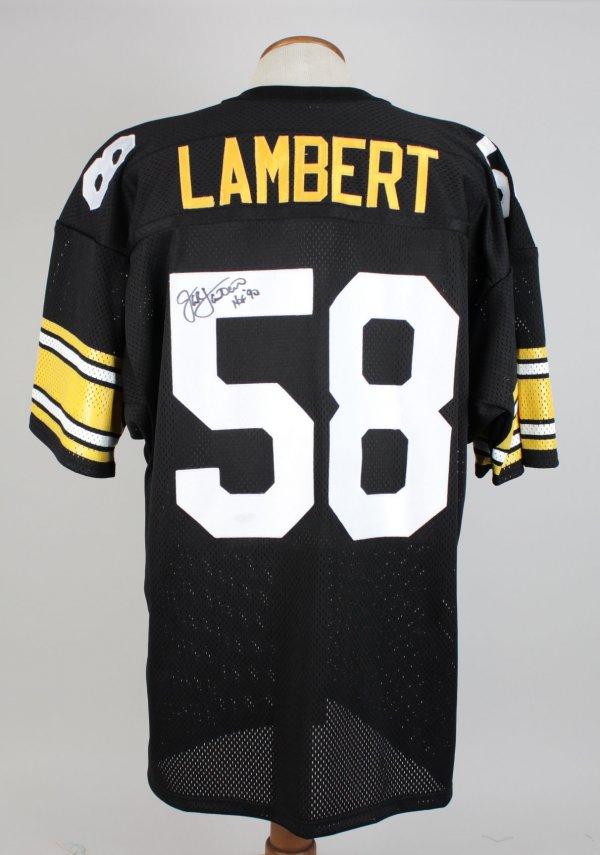 Jack Lampert Steelers Signed Inscribed ( HOF 90 ) Home Jersey