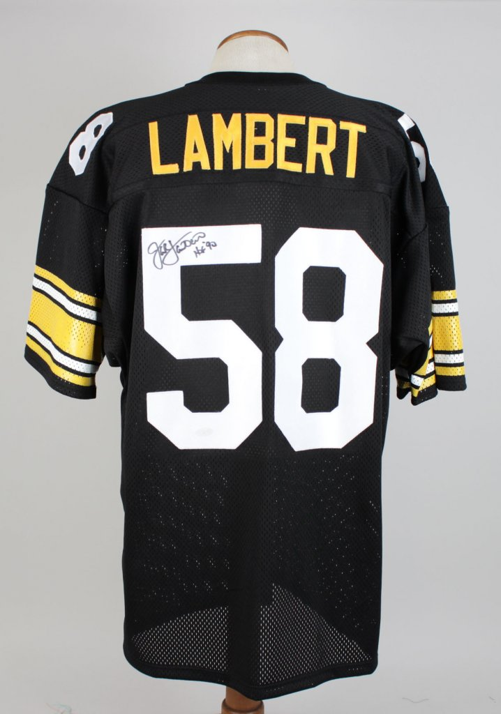 Jack Lampert Steelers Signed Inscribed ( HOF 90 ) Home Jersey