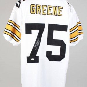 Joe Greene Steelers Signed & Inscribed HOF 87 White Jersey