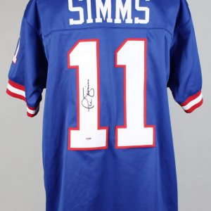 NY Giants Phil Simms Signed Super Bowl MVP Home Jersey PSA