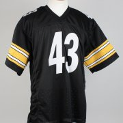 "Pittsburgh Steelers - Troy Polamalu Signed & Inscribed ""43"" Home Jersey- COA JSA"