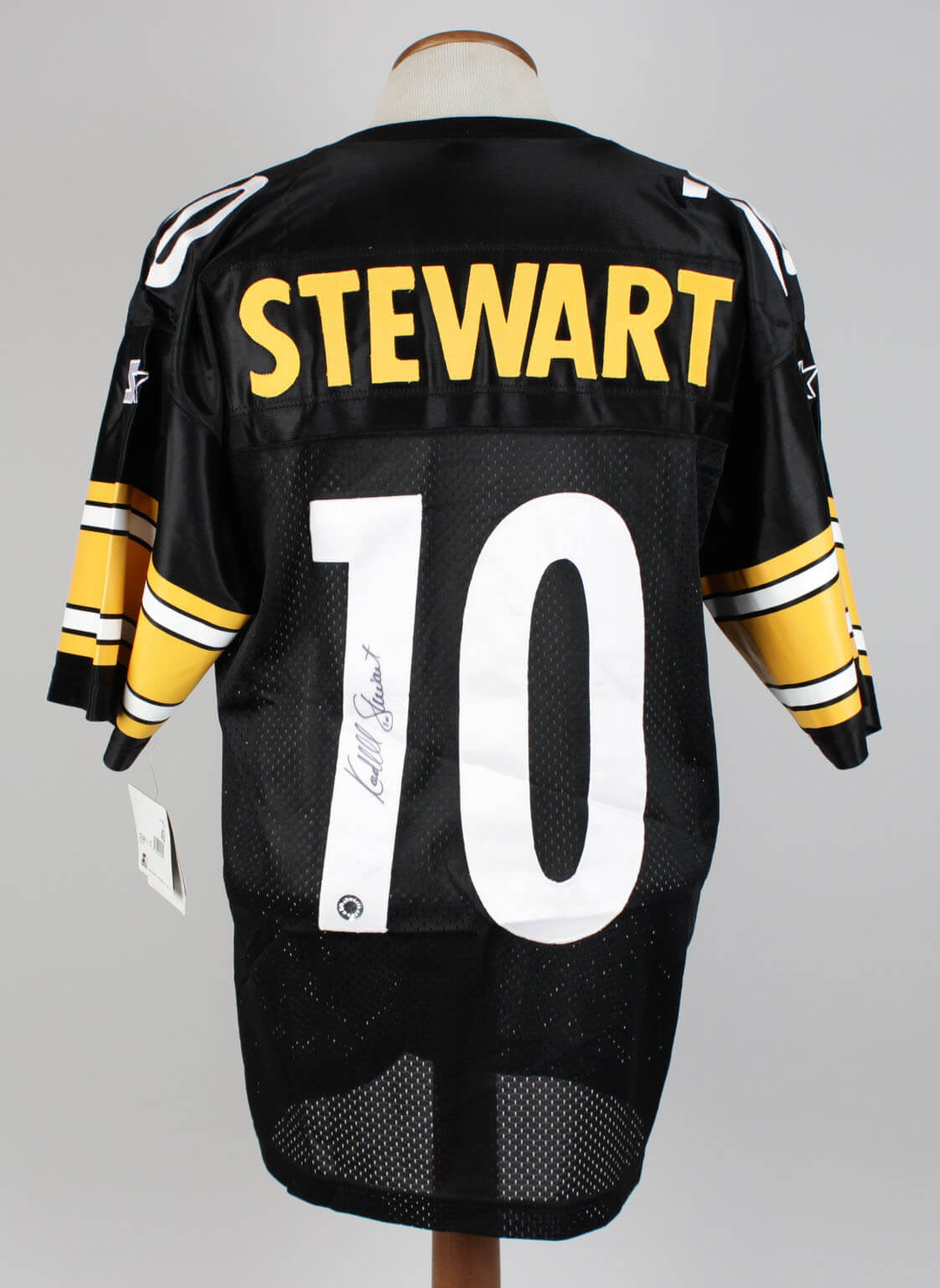 c788e4f49 Kordell Stewart Pittsburgh Steelers Signed Inscribed (10) Black Jersey  Signature grades 9-10 - Memorabilia Expert