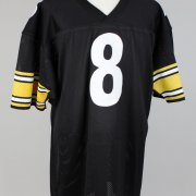 Tommy Maddox Pittsburgh Steelers Signed Inscribed (8) Black Jersey Signature grades 9-10