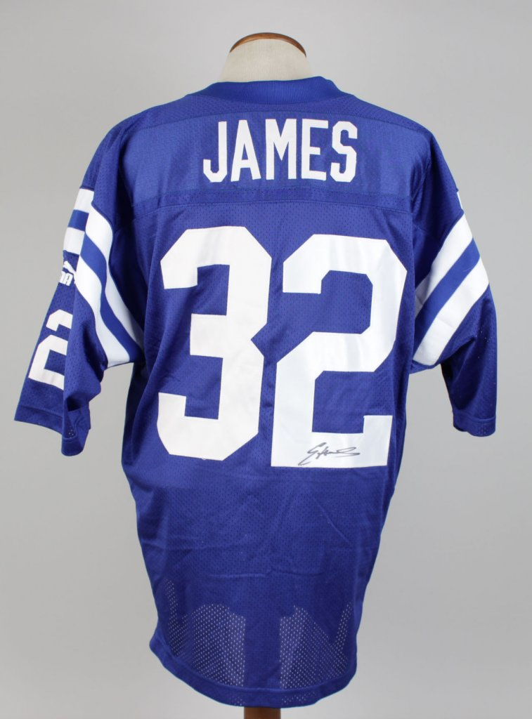 Edgerrin James Colts Signed Home Puma Authentic Players Inc. Jersey COA