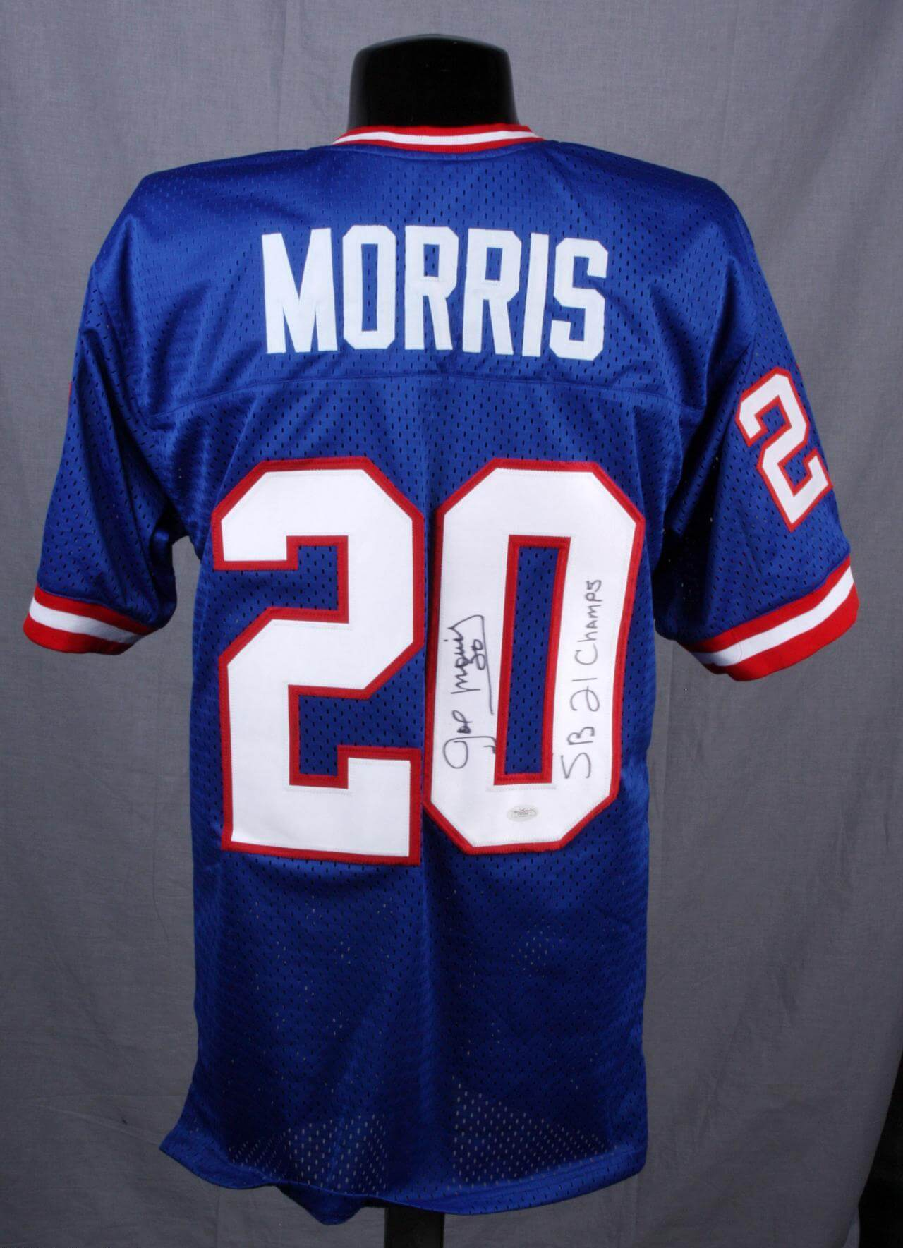 Joe Morris Signed Jersey Giants - COA JSA