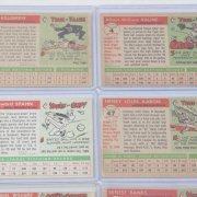 1955 Topps Baseball Cards Near Set 199/206 Incl. Ted Williams, Hank Aaron, Ernie Banks, Duke Snider, Eddie Mathews etc.