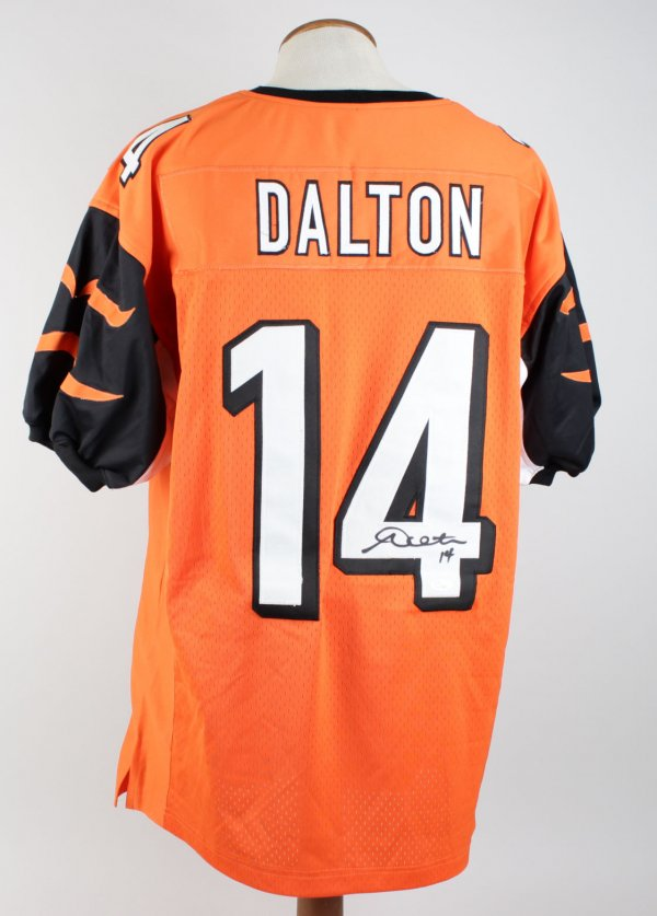 Bengals Andy Dalton Signed & Inscribed ( 14 ) Home Jersey