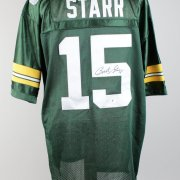 Bart Star Green Bay  Packers Signed  & Inscribed (15) Home Jersey
