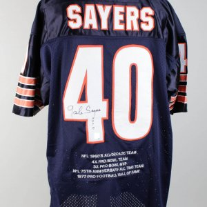 Chicago Bears Gale Sayers Signed Jersey (COA Player Hologram)