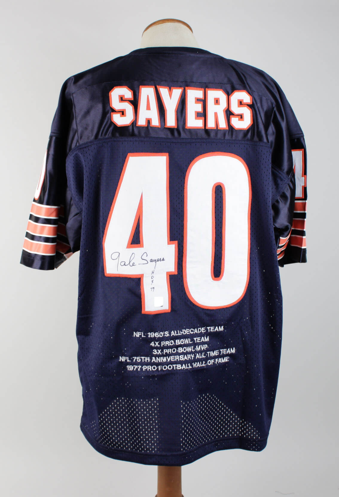 6d0beb129 Gale Sayers Signed Jersey Bears – COA | Memorabilia Expert