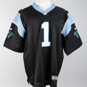Cam Newton Panthers Signed & Inscribed #1 Black Jersey