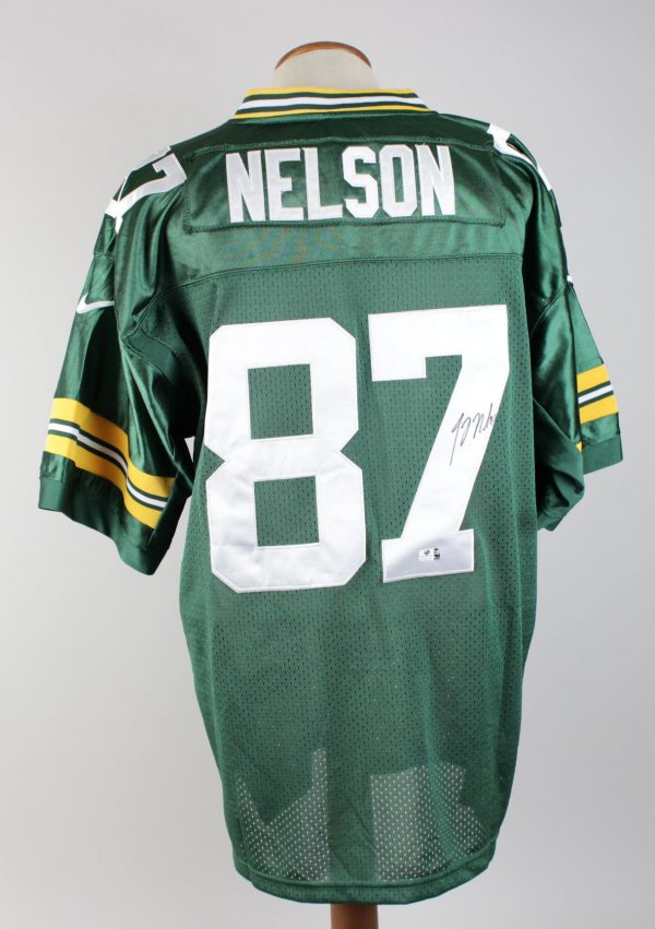 Jordy Nelson Packers Signed Home Jersey