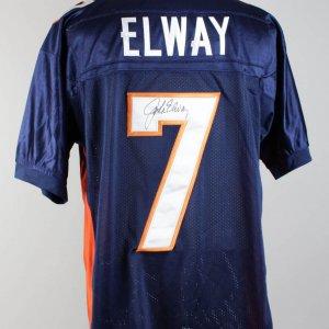 Denver Broncos John Elway Signed Jersey (COA)