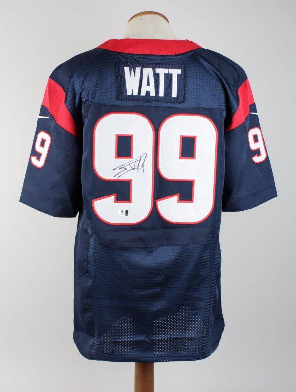 JJ Watt Texans Signed Inscribed (99) Home Jersey