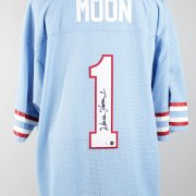 Houston Oilers - Warren Moon Signed Home Jersey - Players Hologram