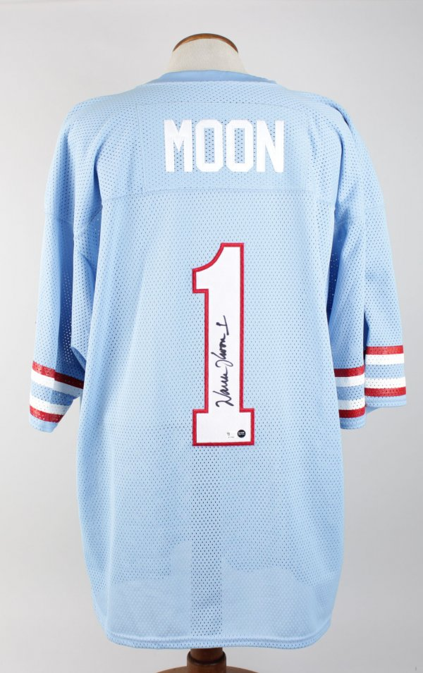 Warren Moon Houston Signed Home Jersey Players Hologram