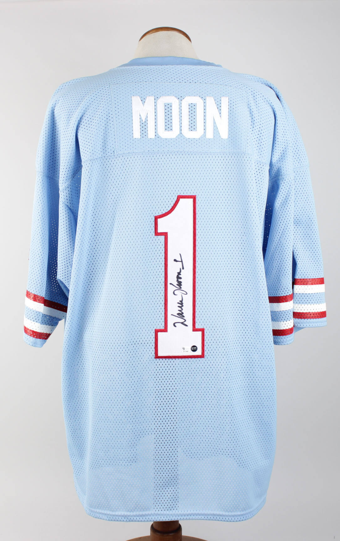 uk availability beddf 54a3d Houston Oilers - Warren Moon Signed Home Jersey - Players Hologram