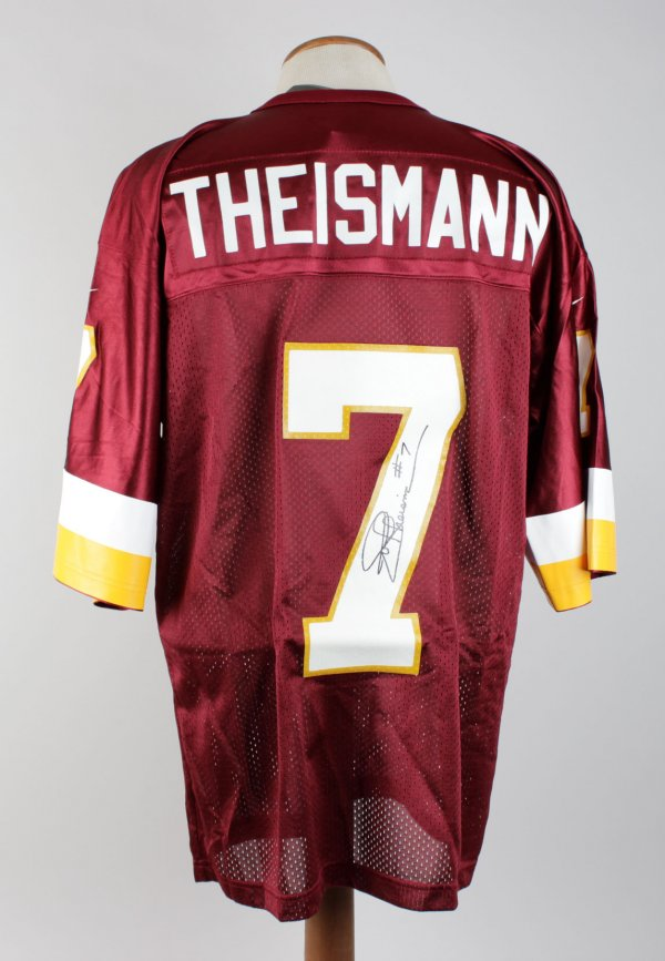 Joe Theismann Redskins Signed & Inscribed ( #7 ) Home Jersey