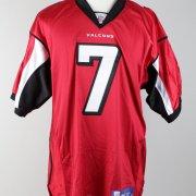 Michael Vick Signed  Inscribed (7)  Atlanta Falcons Red Jersey