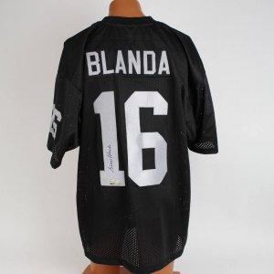 Oakland Raiders George Blanda Signed Black Jersey
