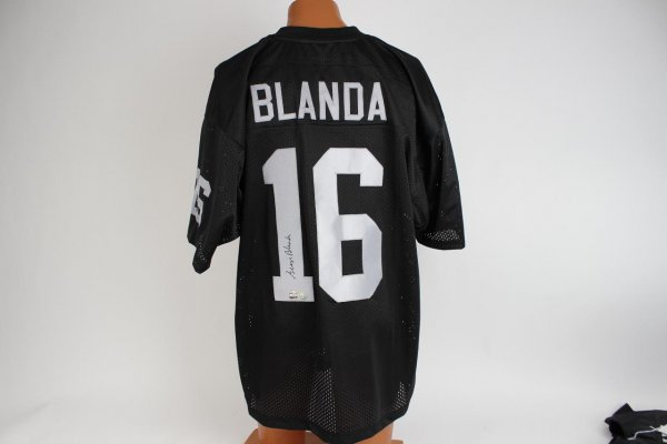 Oakland Raiders George Blanda Signed Black Jersey