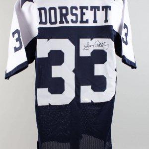 Cowboys Tony Dorsett Signed Jersey (COA JSA)