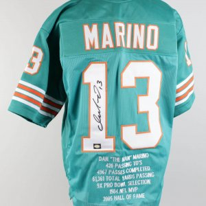 Dolphins Dan Marino Signed Jersey (COA Player Hologram)