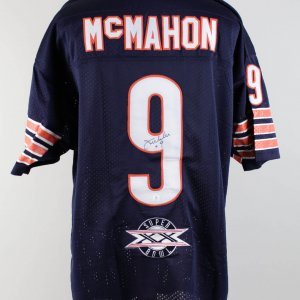 Chicago Bears McMahon Signed Jersey (COA)