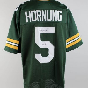 Packers Paul Hornung Signed Jersey (COA Player Letter)