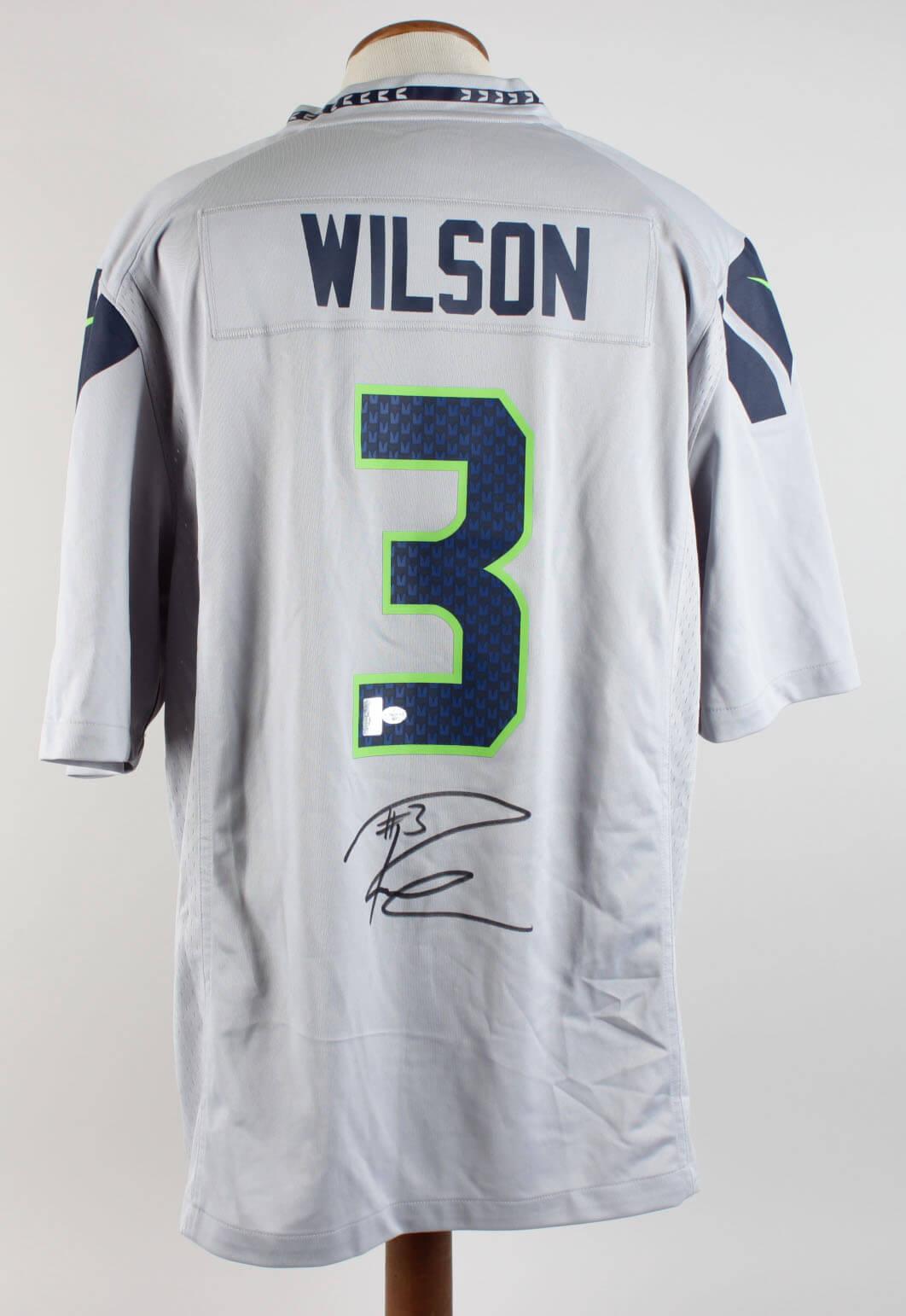 b08422b0d Seattle Seahawks - Russell Wilson Signed Jersey (Wilson Hologram). Seattle  Seahawks - Russell Wilson Signed Jersey (Wilson Hologram)