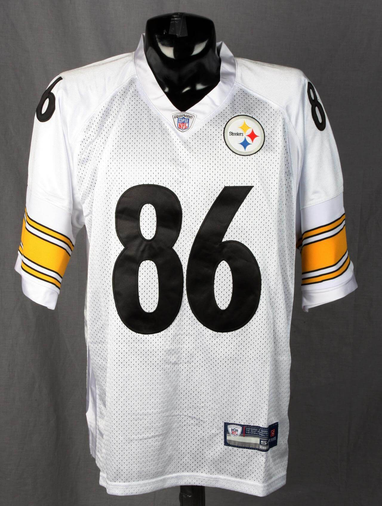 meet 2780b a780a Hines Ward Steelers Signed & Inscribed 86 White Jersey Global Authentics