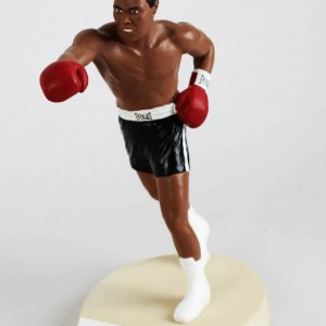 Muhammad Ali Signed Salvino Statue (Black Trunks Variation)