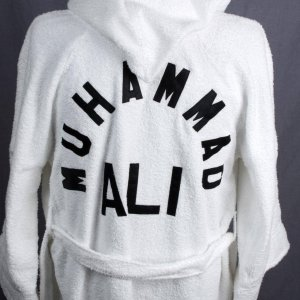 Muhammad Ali Training Worn Robe with Additional Signature Card