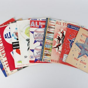 Lot of 1940-1960 All Star Baseball Game Programs